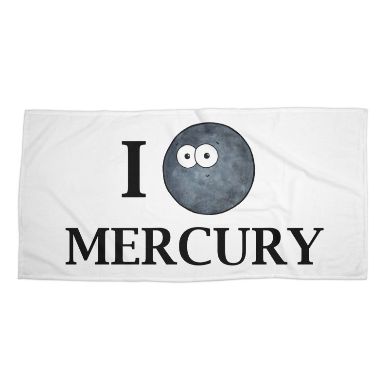 I Heart Mercury Accessories Beach Towel by Adrienne Body