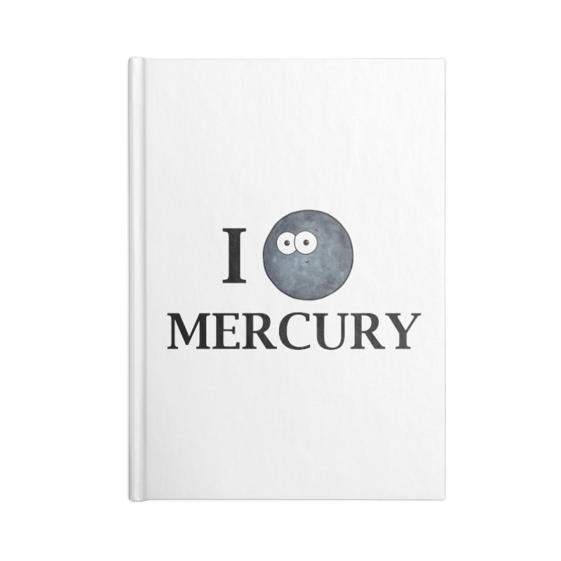 I Heart Mercury Accessories Lined Journal Notebook by Adrienne Body