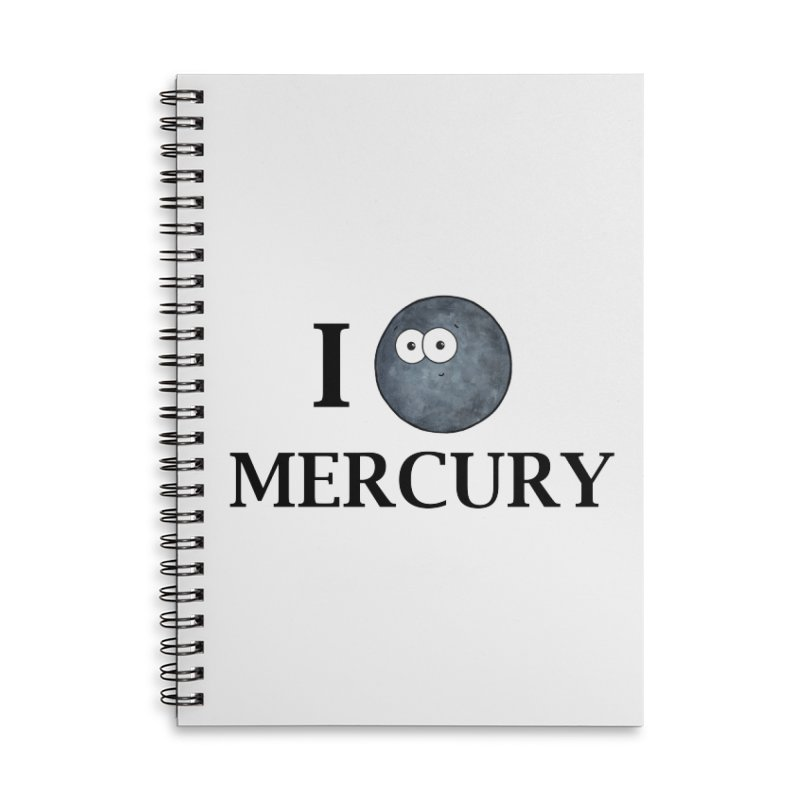 I Heart Mercury Accessories Lined Spiral Notebook by Adrienne Body