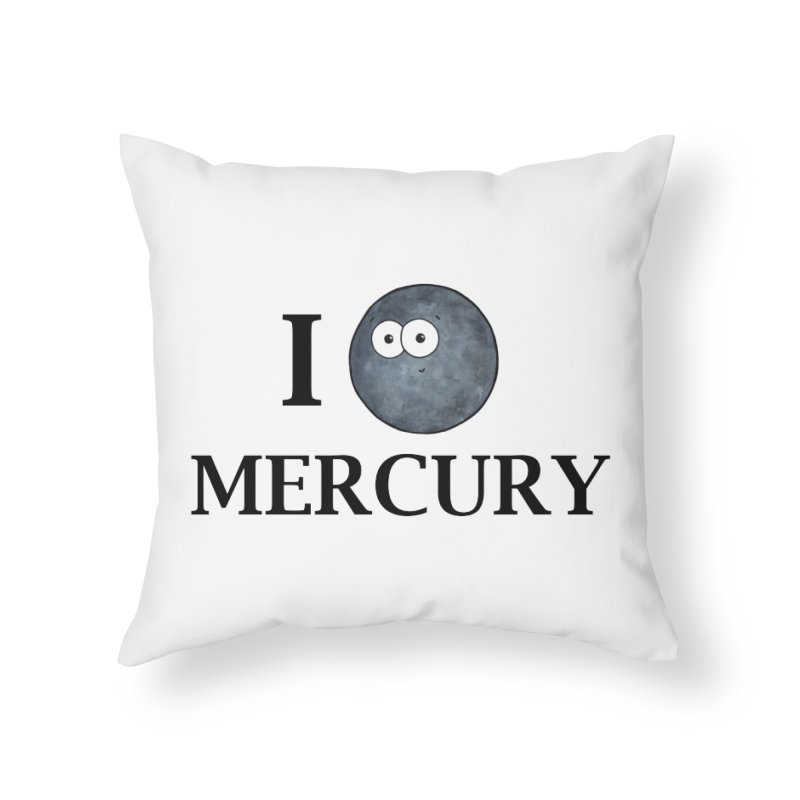 I Heart Mercury Home Throw Pillow by Adrienne Body