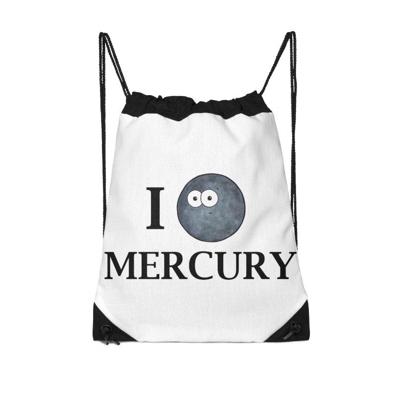 I Heart Mercury Accessories Drawstring Bag Bag by Adrienne Body