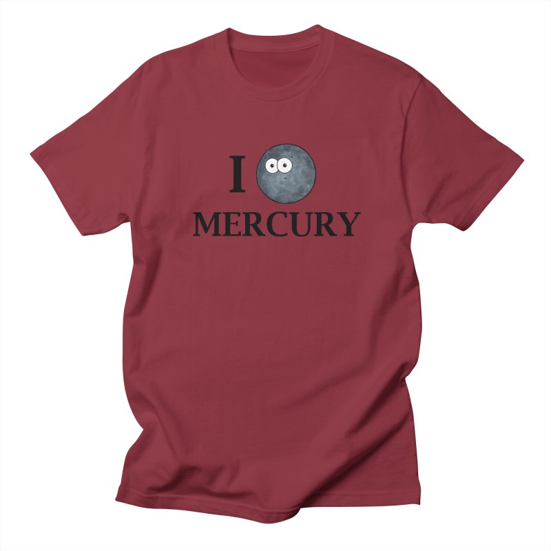 I Heart Mercury Men's Regular T-Shirt by Adrienne Body