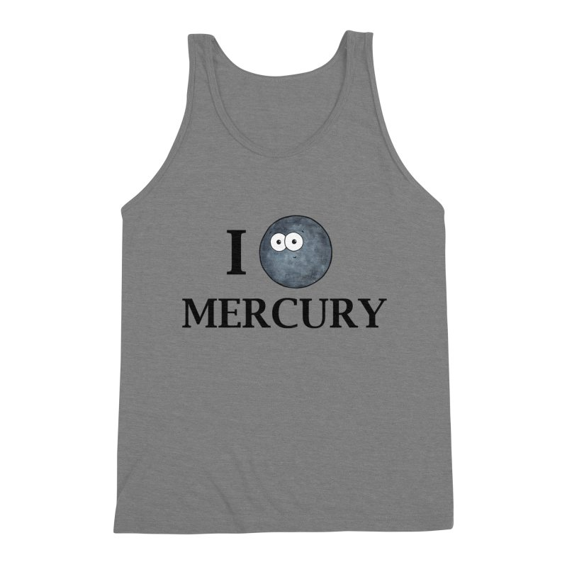 I Heart Mercury Men's Triblend Tank by Adrienne Body