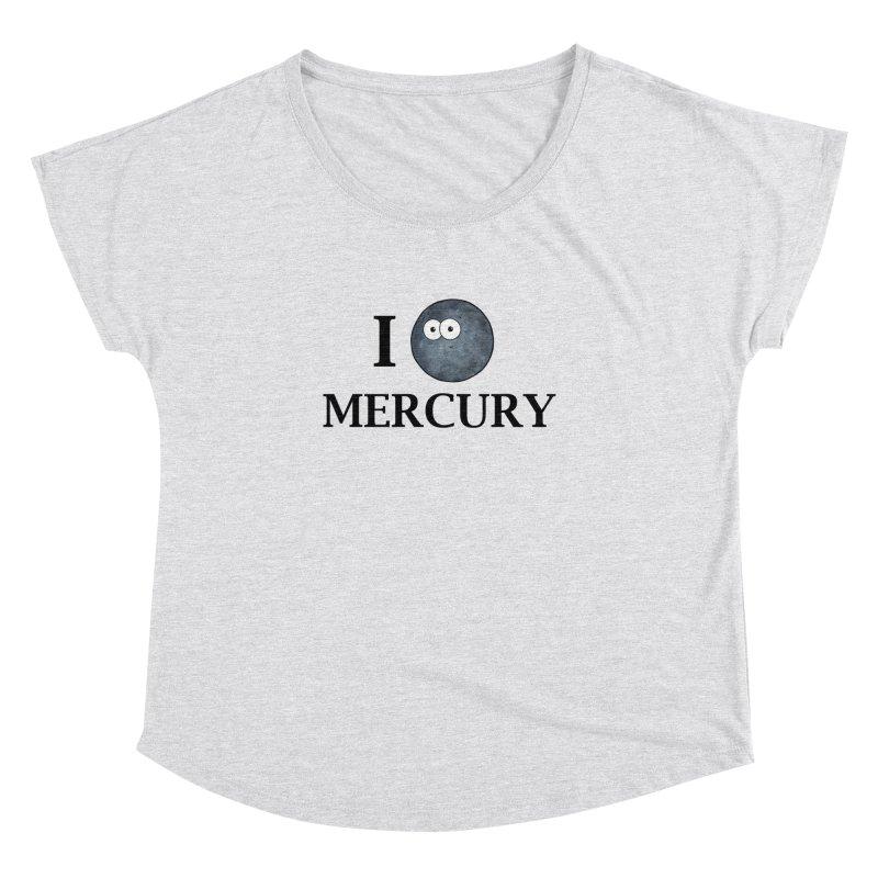 I Heart Mercury Women's Dolman Scoop Neck by Adrienne Body