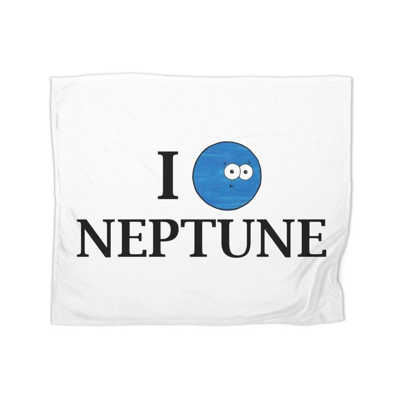 I Heart Neptune Home Fleece Blanket Blanket by Adrienne Body