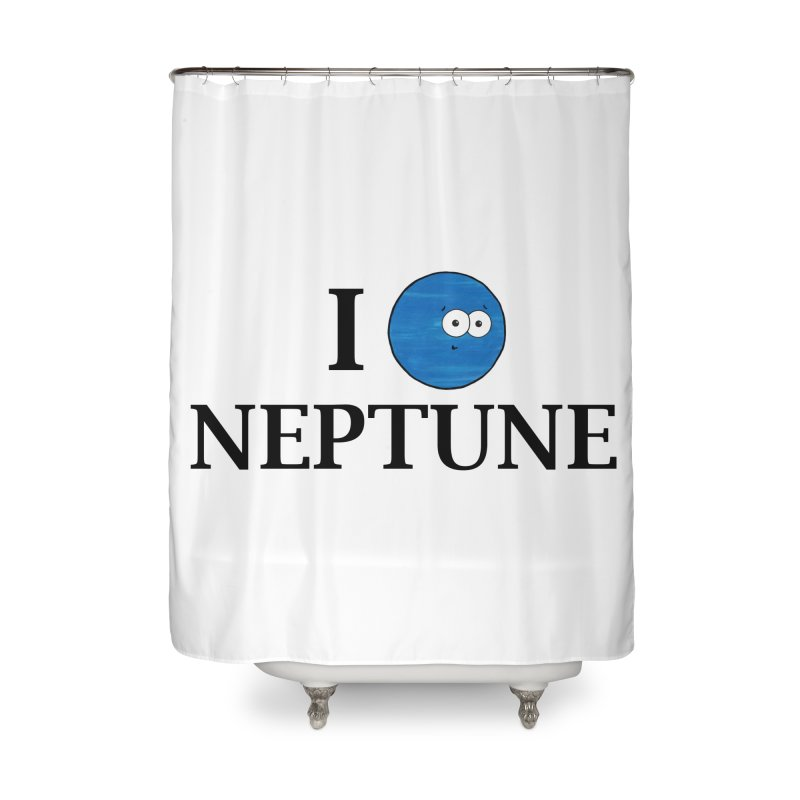 I Heart Neptune Home Shower Curtain by Adrienne Body