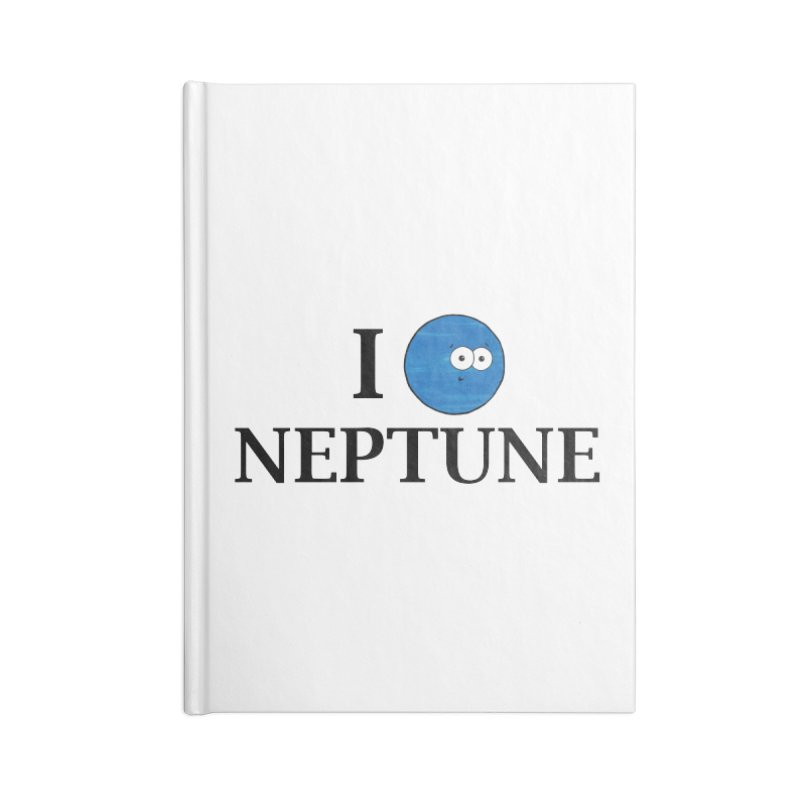 I Heart Neptune Accessories Lined Journal Notebook by Adrienne Body