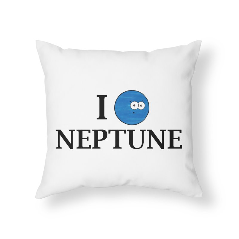 I Heart Neptune Home Throw Pillow by Adrienne Body