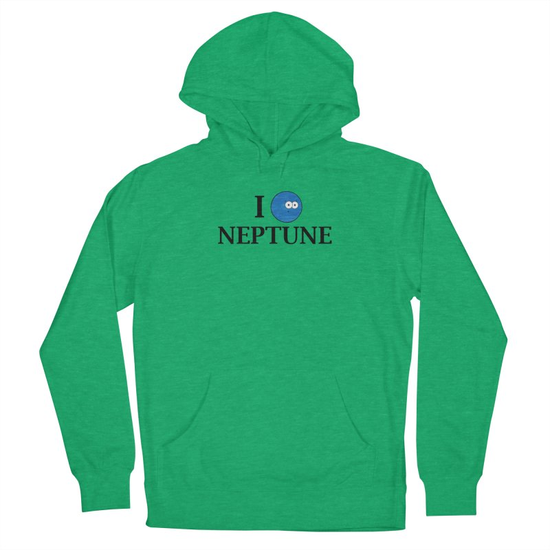 I Heart Neptune Women's French Terry Pullover Hoody by Adrienne Body