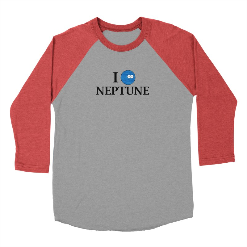 I Heart Neptune Women's Baseball Triblend Longsleeve T-Shirt by Adrienne Body