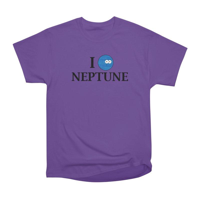 I Heart Neptune Men's Heavyweight T-Shirt by Adrienne Body