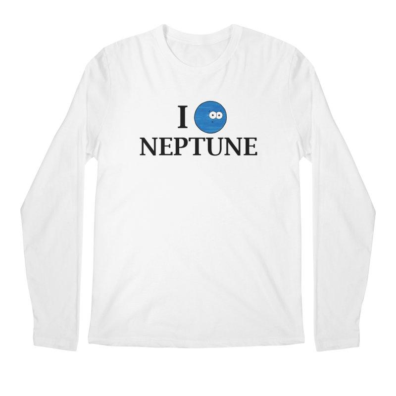 I Heart Neptune Men's Regular Longsleeve T-Shirt by Adrienne Body