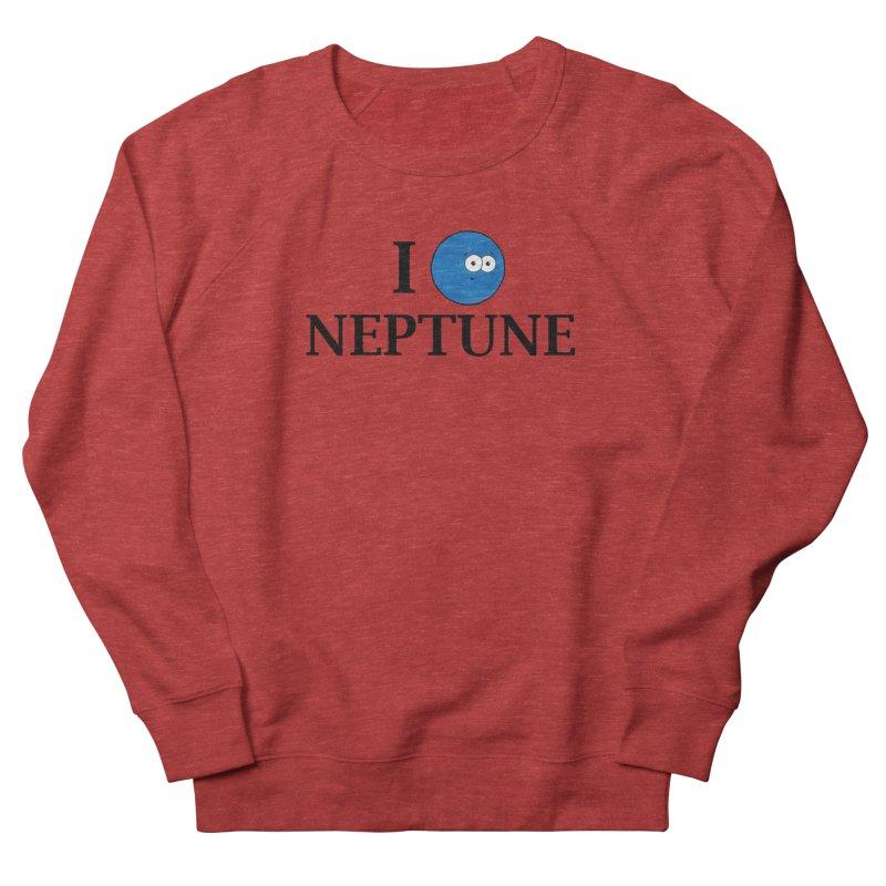I Heart Neptune Men's French Terry Sweatshirt by Adrienne Body