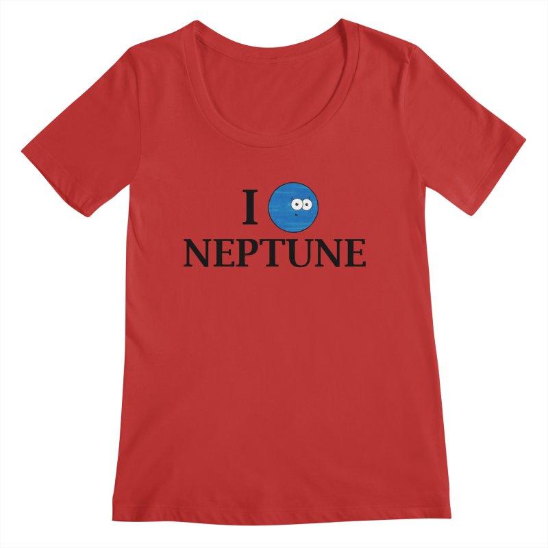 I Heart Neptune Women's Regular Scoop Neck by Adrienne Body