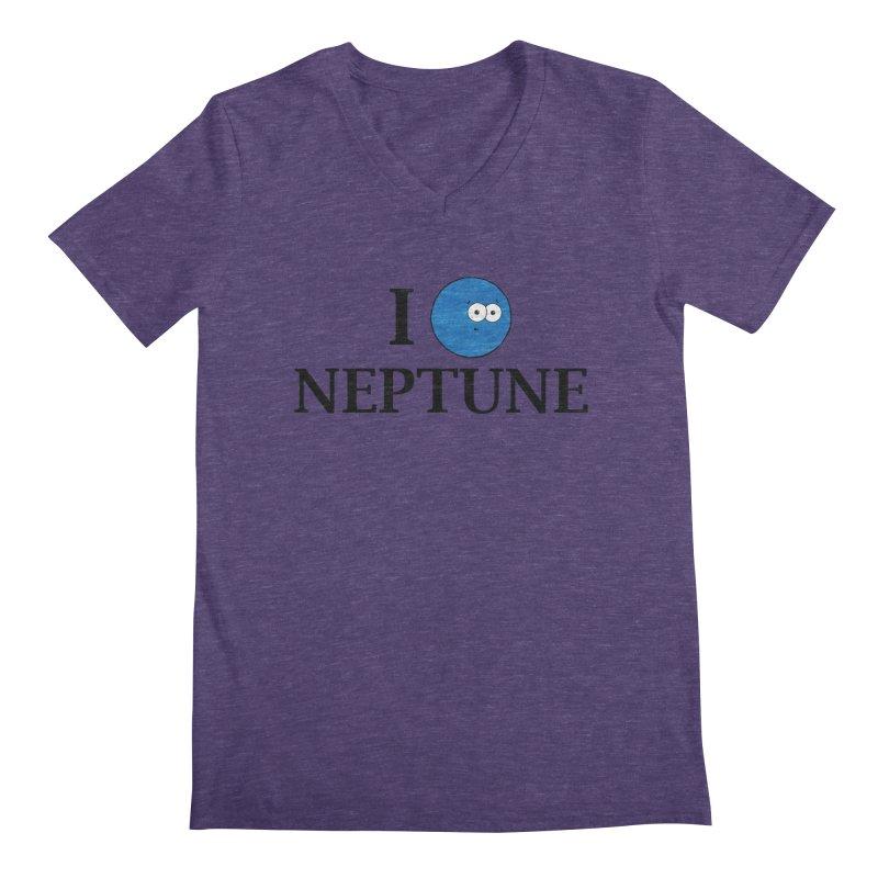 I Heart Neptune Men's Regular V-Neck by Adrienne Body