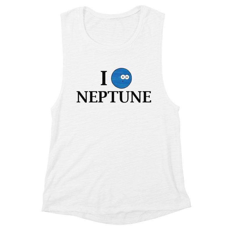 I Heart Neptune Women's Muscle Tank by Adrienne Body