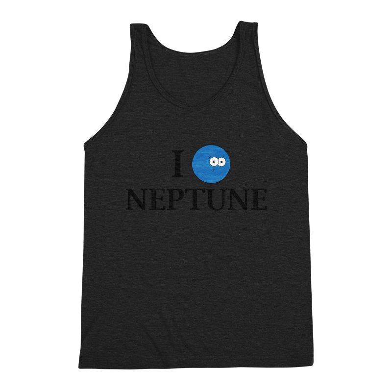 I Heart Neptune Men's Triblend Tank by Adrienne Body