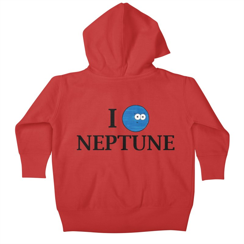 I Heart Neptune Kids Baby Zip-Up Hoody by Adrienne Body