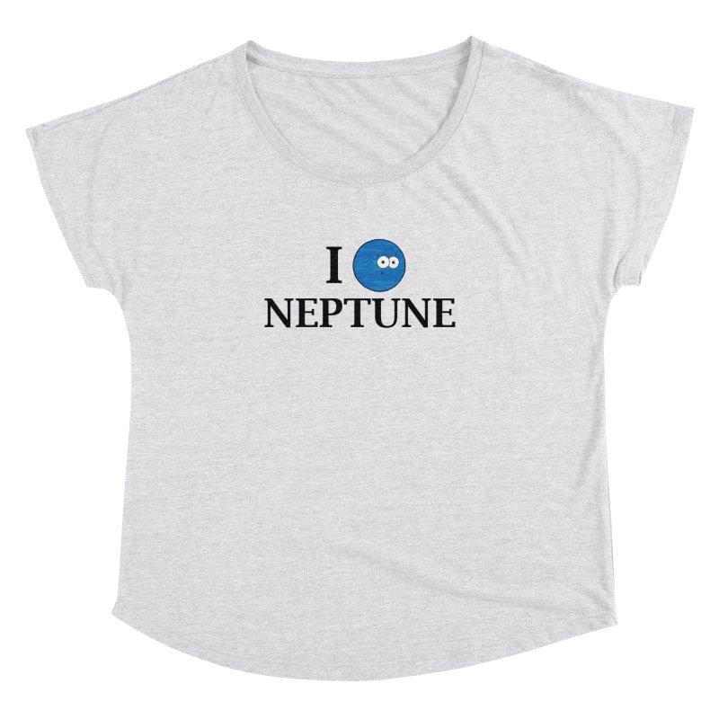 I Heart Neptune Women's Dolman Scoop Neck by Adrienne Body