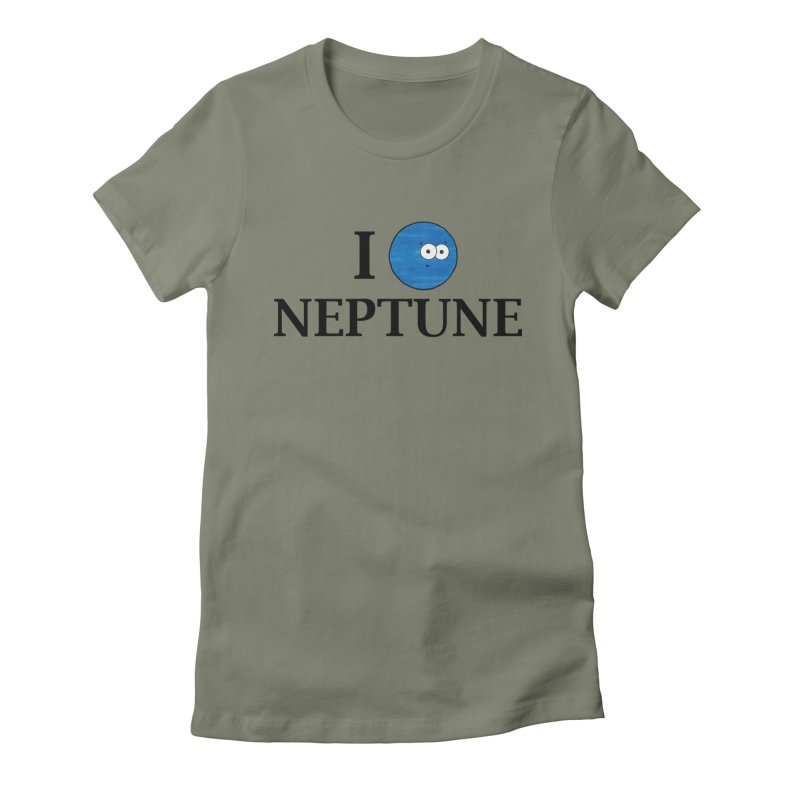 I Heart Neptune Women's Fitted T-Shirt by Adrienne Body