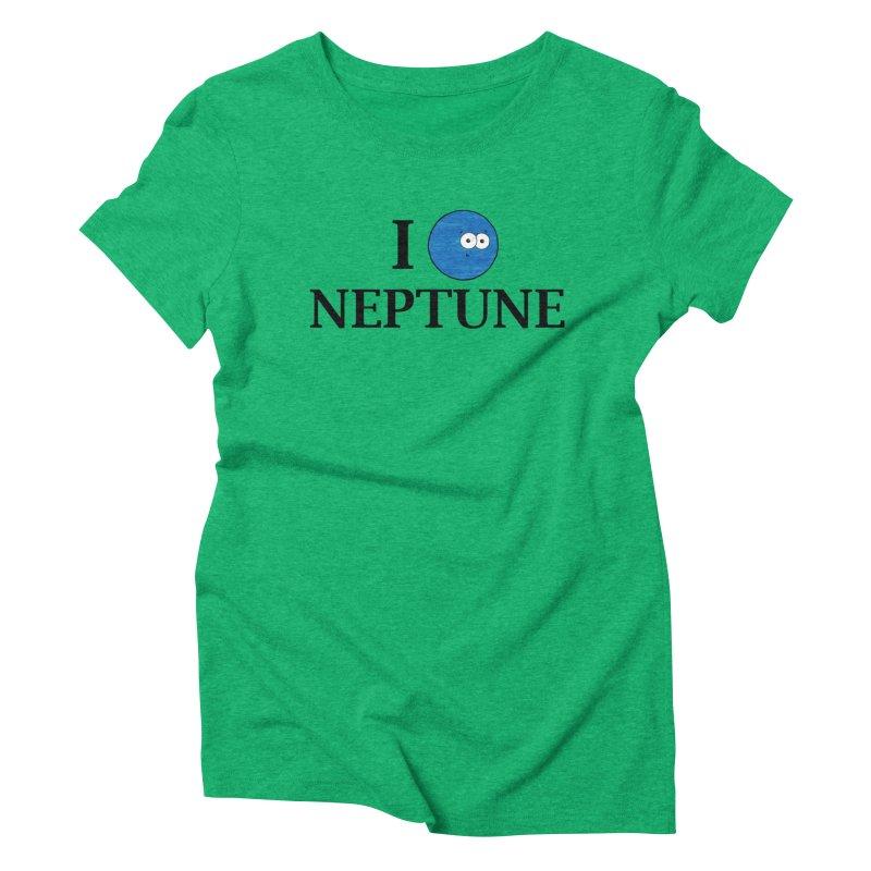 I Heart Neptune Women's Triblend T-Shirt by Adrienne Body