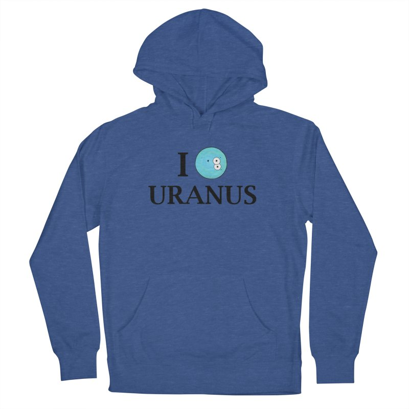 I Heart Uranus Men's French Terry Pullover Hoody by Adrienne Body