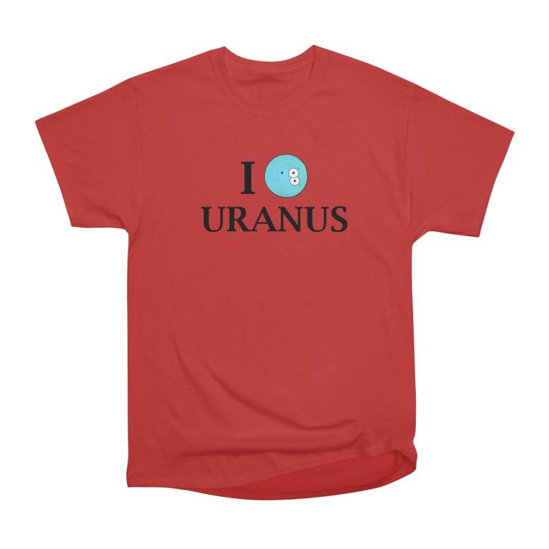 I Heart Uranus Men's Heavyweight T-Shirt by Adrienne Body