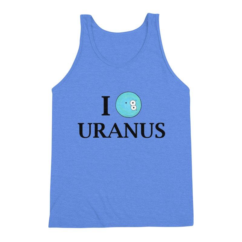 I Heart Uranus Men's Triblend Tank by Adrienne Body
