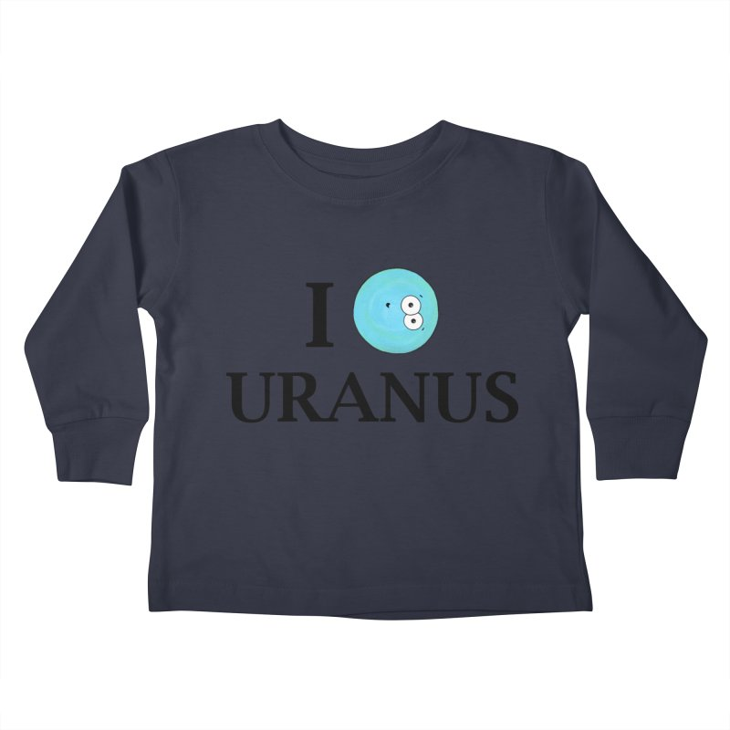 I Heart Uranus Kids Toddler Longsleeve T-Shirt by Adrienne Body