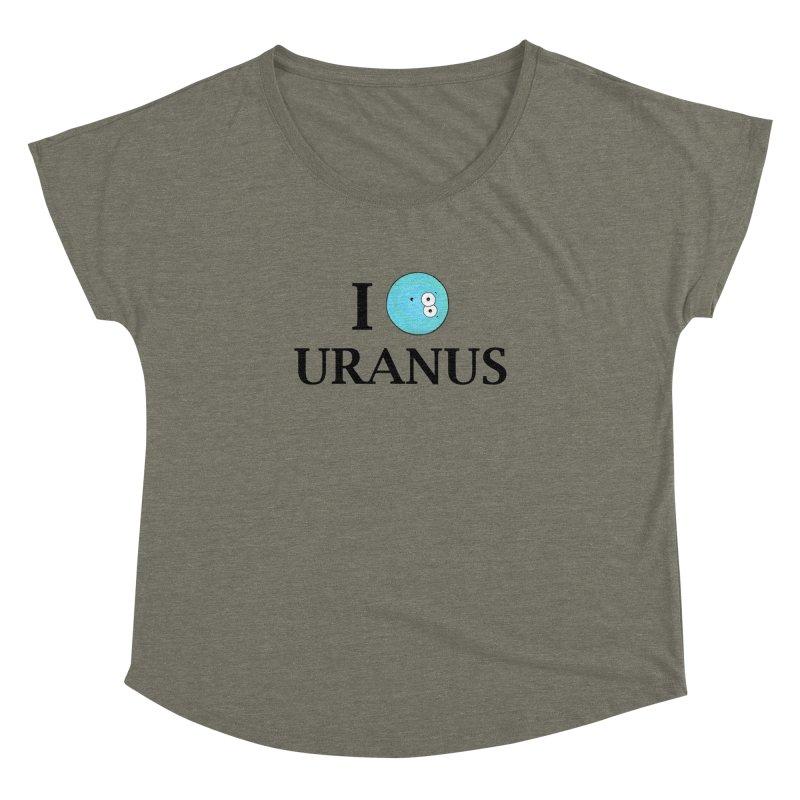 I Heart Uranus Women's Dolman Scoop Neck by Adrienne Body
