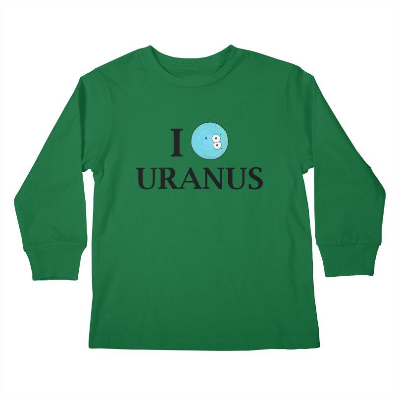 I Heart Uranus Kids Longsleeve T-Shirt by Adrienne Body