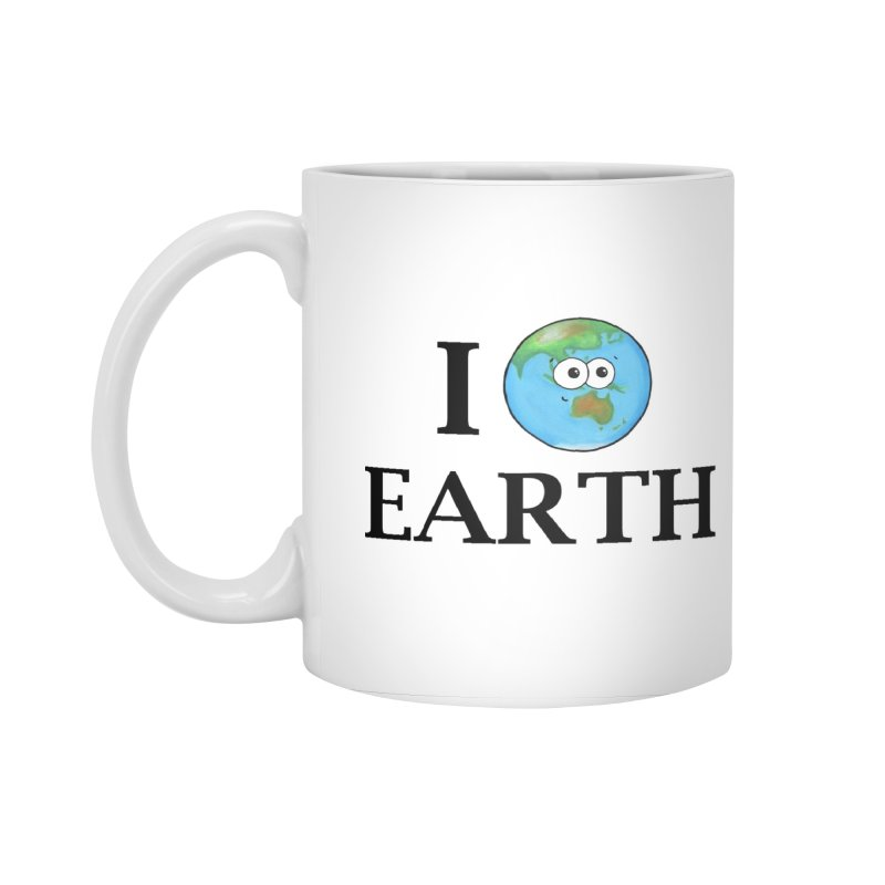 I Heart Earth Accessories Standard Mug by Adrienne Body