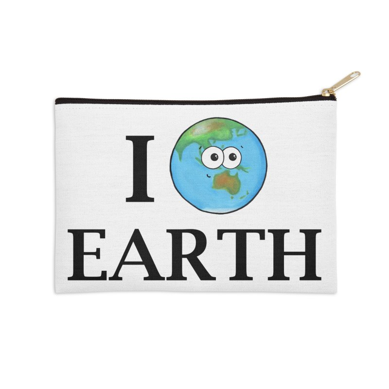 I Heart Earth Accessories Zip Pouch by Adrienne Body