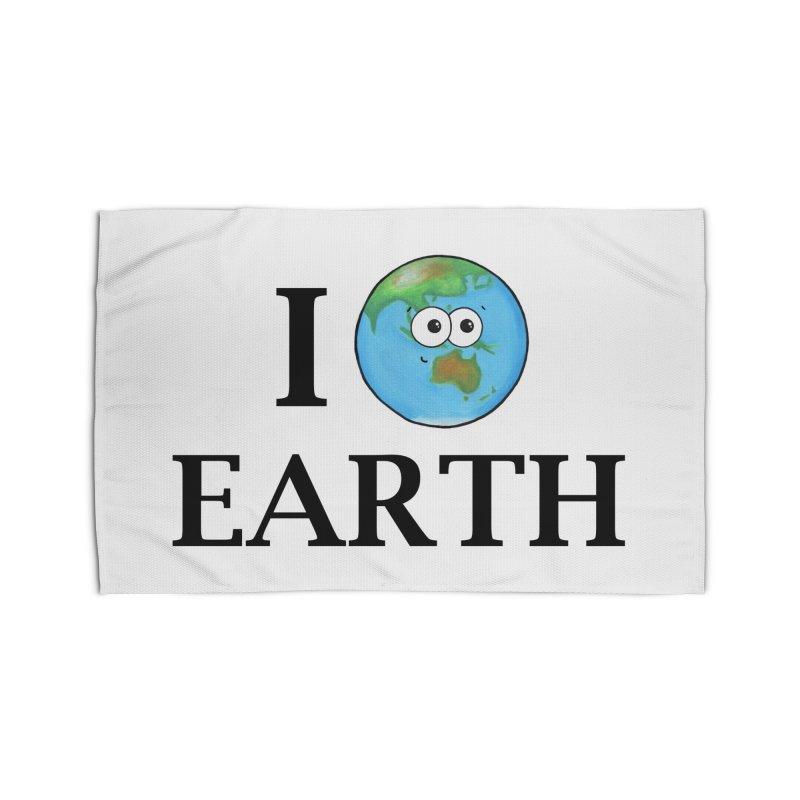 I Heart Earth Home Rug by Adrienne Body