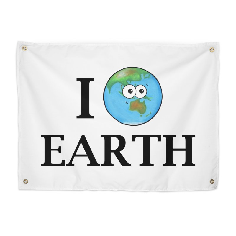 I Heart Earth Home Tapestry by Adrienne Body