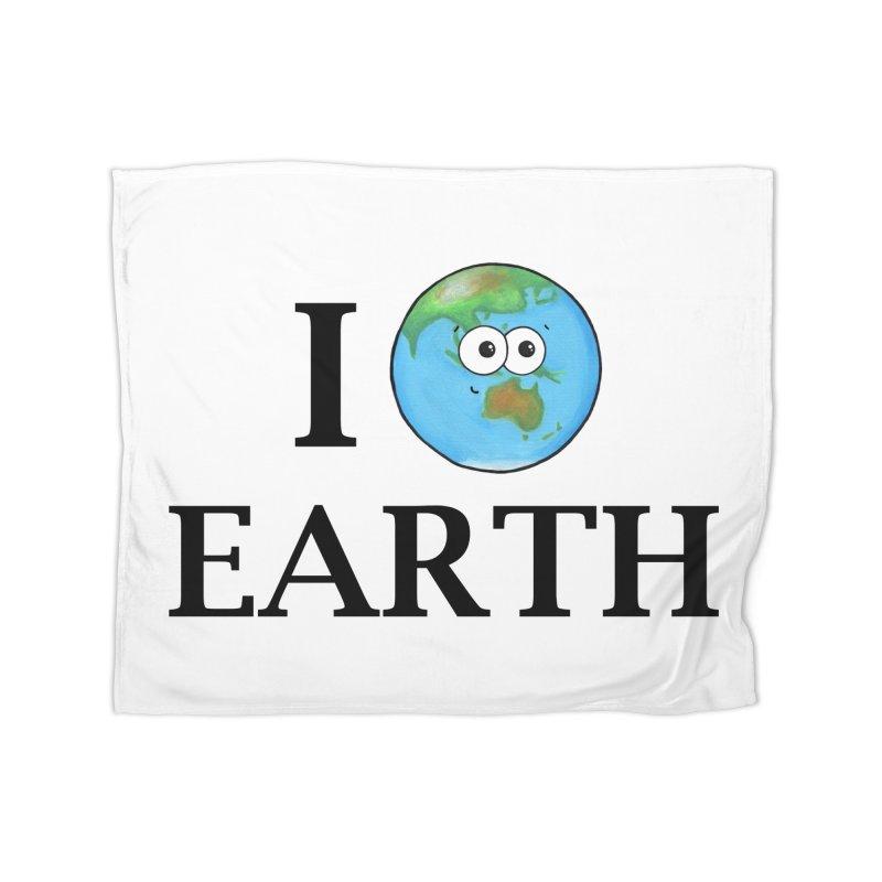 I Heart Earth Home Blanket by Adrienne Body