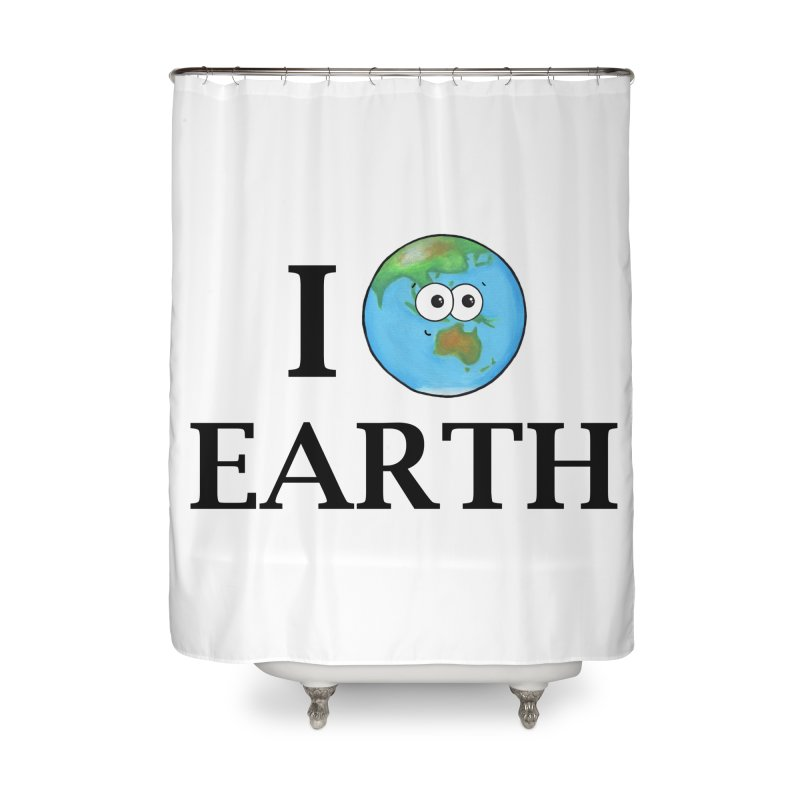 I Heart Earth Home Shower Curtain by Adrienne Body