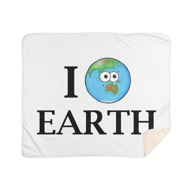 I Heart Earth Home Sherpa Blanket Blanket by Adrienne Body