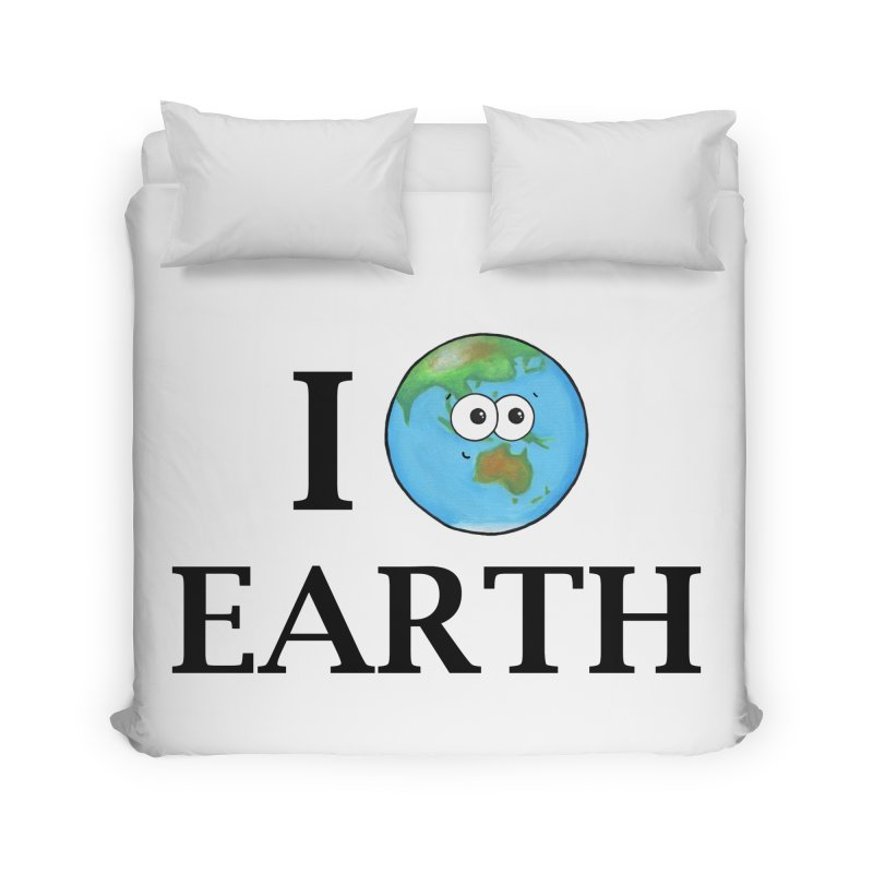 I Heart Earth Home Duvet by Adrienne Body