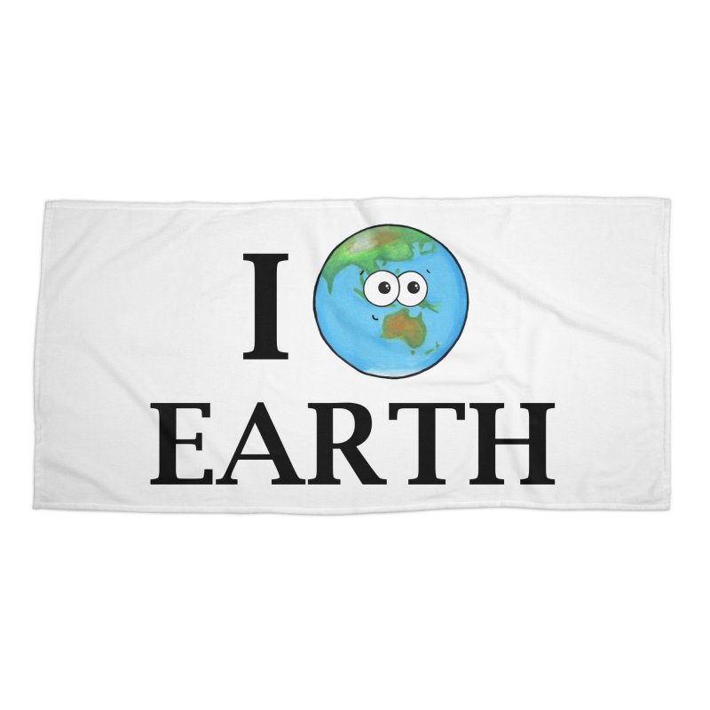 I Heart Earth Accessories Beach Towel by Adrienne Body