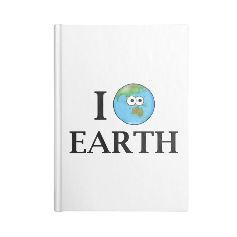 I Heart Earth Accessories Lined Journal Notebook by Adrienne Body