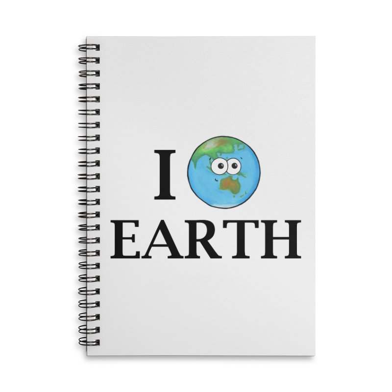 I Heart Earth Accessories Lined Spiral Notebook by Adrienne Body