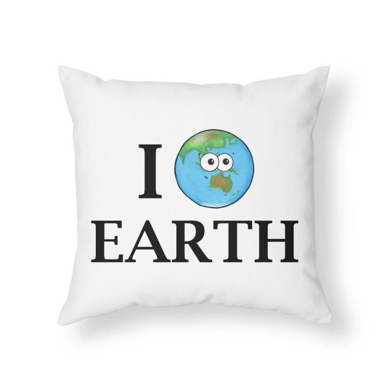 I Heart Earth Home Throw Pillow by Adrienne Body