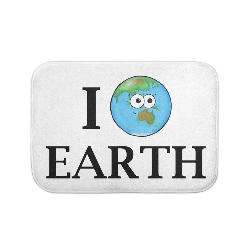 I Heart Earth Home Bath Mat by Adrienne Body