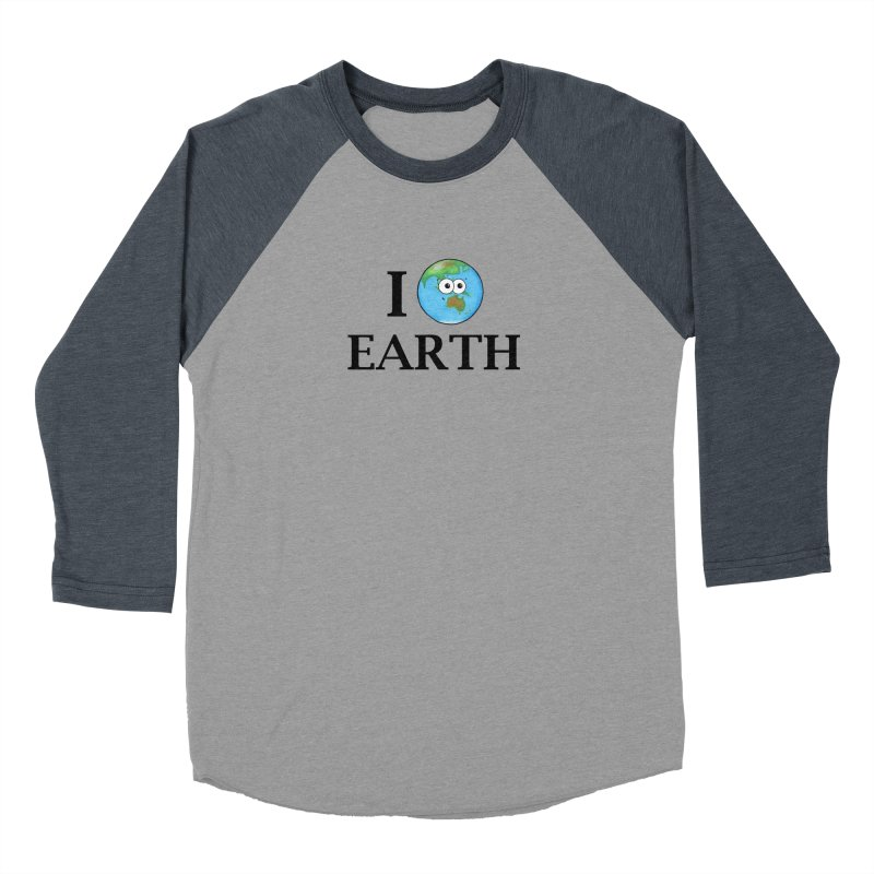 I Heart Earth Women's Baseball Triblend Longsleeve T-Shirt by Adrienne Body