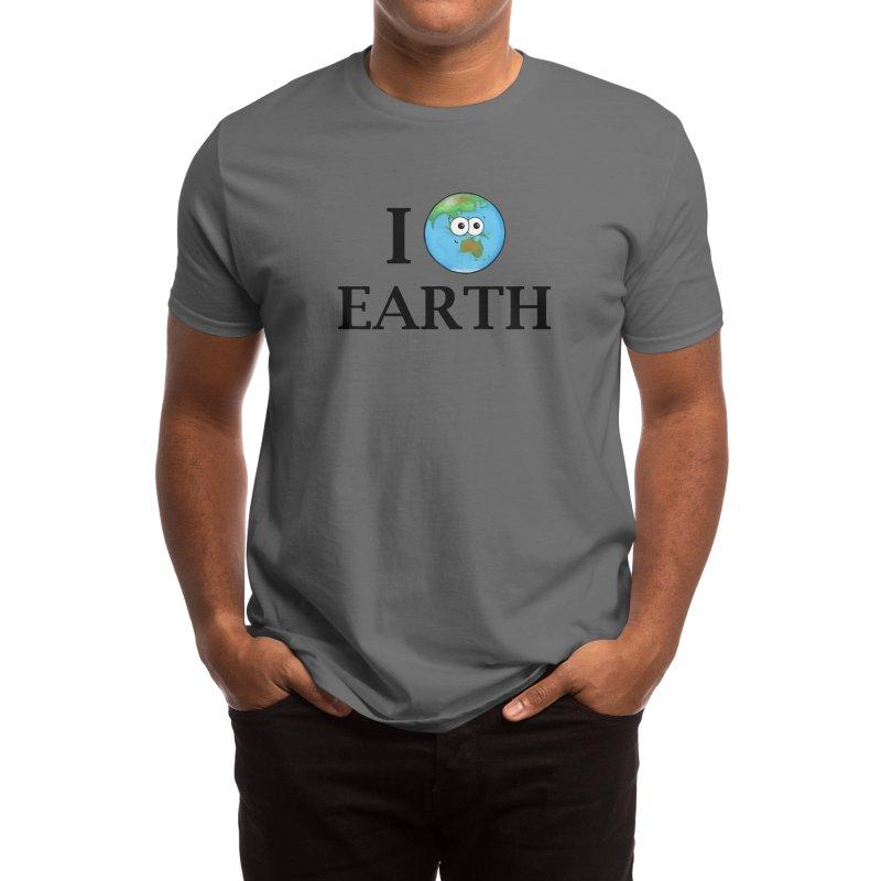 I Heart Earth Men's T-Shirt by Adrienne Body