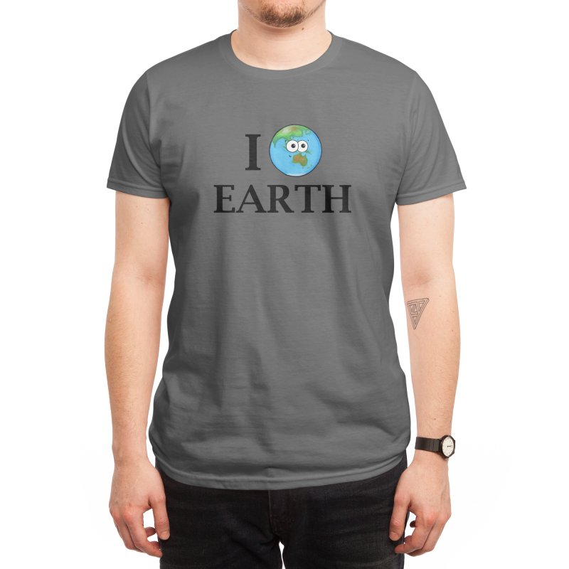 I Heart Earth Men's T-Shirt by Adrienne Body