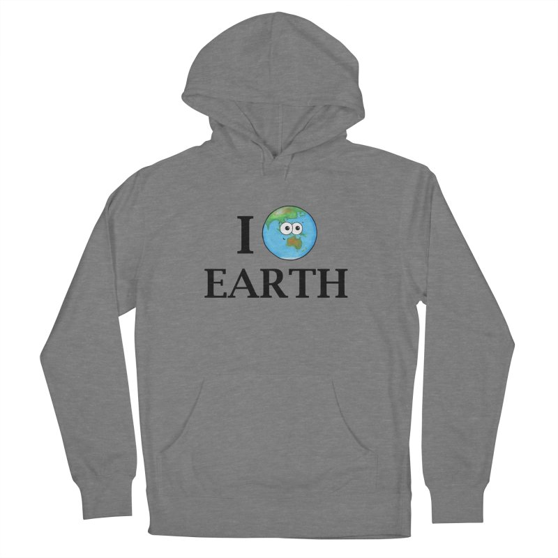 I Heart Earth Men's French Terry Pullover Hoody by Adrienne Body