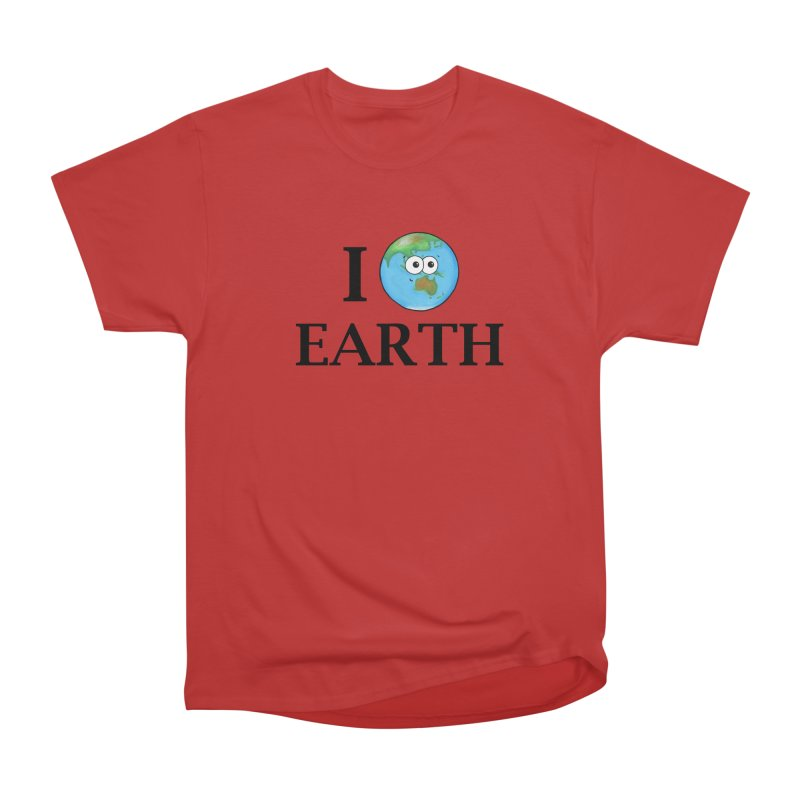 I Heart Earth Men's Heavyweight T-Shirt by Adrienne Body