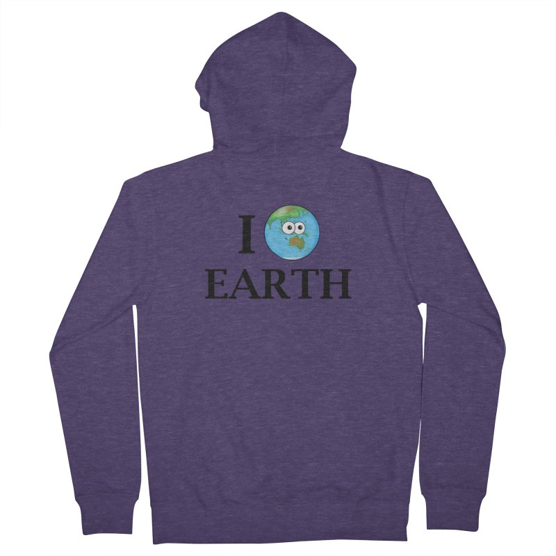 I Heart Earth Men's French Terry Zip-Up Hoody by Adrienne Body